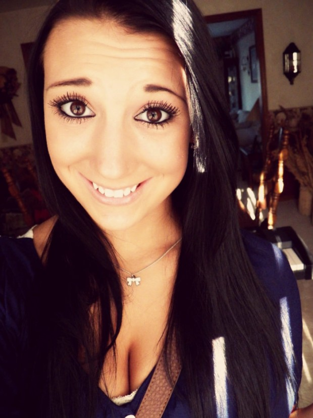 I'm in love with my eyes, but my smile, I wish I could change it. I almost have vampire teeth.