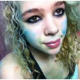 Not the best picture of me but I like how the blue chalk looks :)