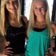 Cute blonde teen twins