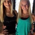 Cute blonde teen twins